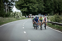 Riders trying to escape from the peloton. <br /> <br /> Circuit de Wallonie 2019<br /> One Day Race: Charleroi – Charleroi 192.2km (UCI 1.1.)<br /> Bingoal Cycling Cup 2019
