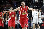 Olympiacos Piraeus' Matt Lojeski celebrates during Euroleague Final Match. May 15,2015. (ALTERPHOTOS/Acero)