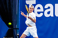 Amstelveen, Netherlands, 14  December, 2020, National Tennis Center, NTC, NK Indoor, National  Indoor Tennis Championships, Qualifying:    Dax Donders (NED)	<br /> Photo: Henk Koster/tennisimages.com