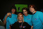 Wendy Madore & Mick Hazen (ATWT) - Scott Evans (OLTL) - Zack Conroy (GL) at the 2009 Daytime Stars and Strikes to benefit the American Cancer Society to benefit the American Cancer Society on October 11, 2009 at the Port Authority Leisure Lanes, New York City, New York. (Photo by Sue Coflin/Max Photos)