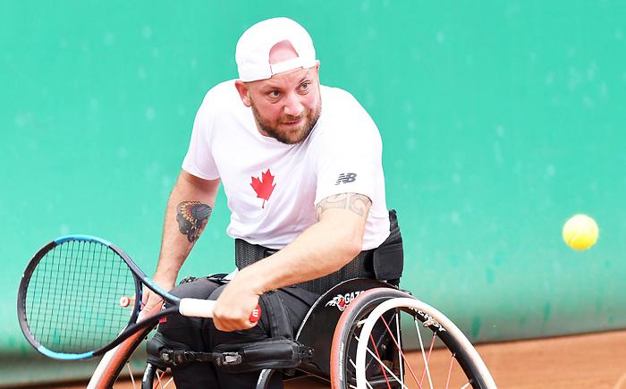 Mitchell McIntyre, Lima 2019 - Wheelchair Tennis // Tennis en fauteuil roulant.<br /> Mitchell McIntyre competes in Wheelchair Tennis // Mitchell McIntyre participe en Tennis en fauteuil roulant. 28/08/2019.