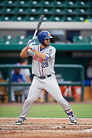 St. Lucie Mets left fielder Wuilmer Becerra (28) at bat during the second game of a doubleheader against the Lakeland Flying Tigers on June 10, 2017 at Joker Marchant Stadium in Lakeland, Florida.  Lakeland defeated St. Lucie 9-1.  (Mike Janes/Four Seam Images)