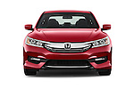 Car photography straight front view of a 2017 Honda Accord Sport 4 Door Sedan Front View
