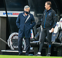 1st November 2020; St James Park, Newcastle, Tyne and Wear, England; English Premier League Football, Newcastle United versus Everton; Carlo Ancelotti before kick off with Duncan Ferguson