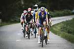 Kasper Asgreen (DEN) Deceuninck-Quick Step leads the breakaway during Stage 7 of the 2021 Tour de France, running 249.1km from Vierzon to Le Creusot, France. 2nd July 2021.  <br /> Picture: A.S.O./Pauline Ballet | Cyclefile<br /> <br /> All photos usage must carry mandatory copyright credit (© Cyclefile | A.S.O./Pauline Ballet)