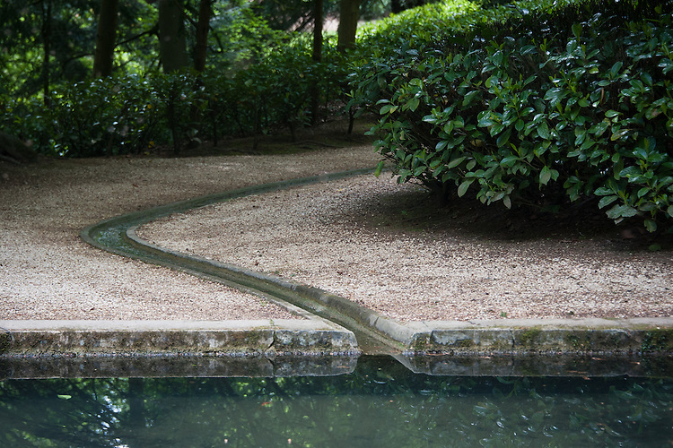 The rill and octgonal Cold Bath pool, Rousham House and Garden.