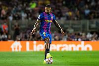 14th September 2021: Nou Camp, Barcelona, Spain: ECL Champions League football, FC Barcelona versus Bayern Munich: 9 Memphis Depay FC Barcelona player in action