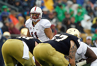 October 13, 2012 - SOUTH BEND, INDIANA - Stanford football lost to the Notre Dame Fighting Irish 20-13 in overtime at Notre Dame Stadium in South Bend, Indiana.