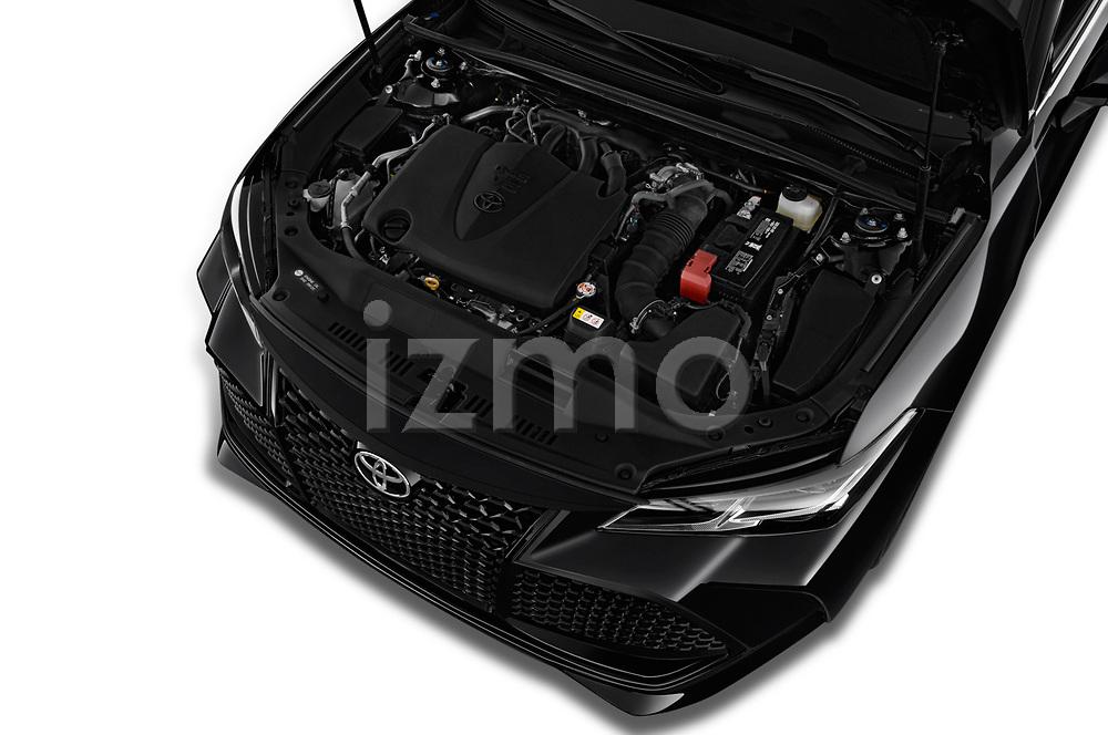 Car stock 2020 Toyota Avalon Touring 4 Door Sedan engine high angle detail view