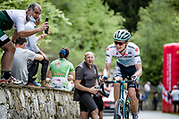 Aleksandr Vlasov (RUS/Astana - Premier Tech) up the final climb of the day; the Alpe di Mera (1560m)<br /> <br /> 104th Giro d'Italia 2021 (2.UWT)<br /> Stage 19 from Abbiategrasso to Alpe di Mera (Valsesia)(176km)<br /> <br /> ©kramon