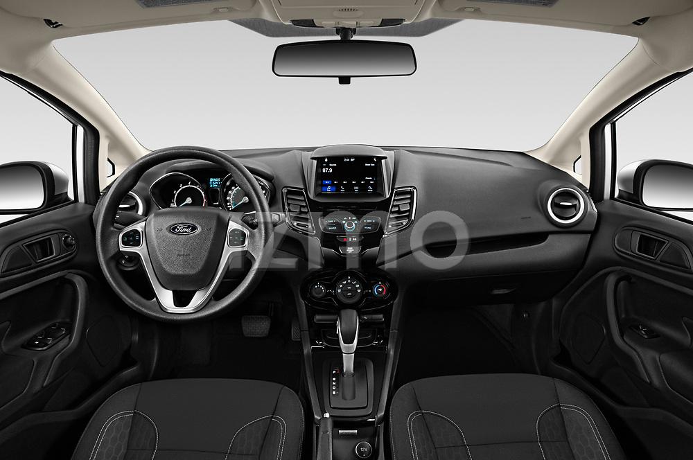 Stock photo of straight dashboard view of 2019 Ford Fiesta SE 4 Door Sedan Dashboard