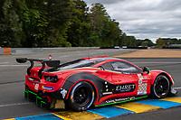 #388 Rinaldi Racing Ferrari 488 GTE EVO LMGTE Am, Pierre Ehret, Christian Hook, Jeroen Bleekemolen, 24 Hours of Le Mans , Free Practice 1, Circuit des 24 Heures, Le Mans, Pays da Loire, France