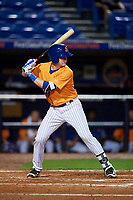 St. Lucie Mets catcher Dan Rizzie (40) at bat during the second game of a doubleheader against the Charlotte Stone Crabs on April 24, 2018 at First Data Field in Port St. Lucie, Florida.  St. Lucie defeated Charlotte 6-5.  (Mike Janes/Four Seam Images)