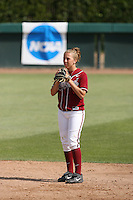 18 May 2007: Stanford Cardinal Lindsay Key during Stanford's 3-0 win against the Cal State Northridge Matadors in the 2007 NCAA Softball Regionals at Boyd & Jill Smith Family Stadium in Stanford, CA.