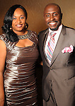 Eunissa and Akintunda Warnock at a gala celebrating 50 years of ministry for Bishop I.V. Hilliard at the New Light Christian Church August 31,2012.(Dave Rossman/For the Chronicle)