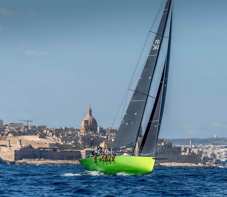 Frederic Puzin's Ker 46, Daguet 3-Corum competing in the Malta Coastal Race