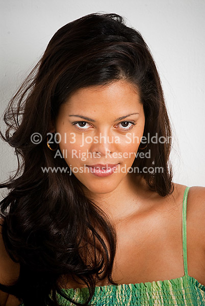 Portrait of beautiful pregnant Hispanic woman