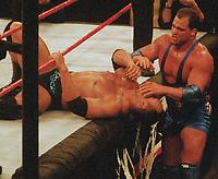 The Rock Kurt Angle 2000                                                           Photo By John Barrett/PHOTOlink
