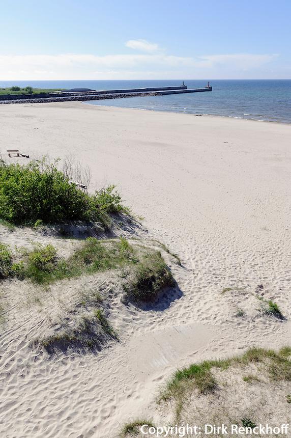 Strand von Pavilosta, Lettland, Europa