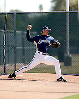 Trevor Hoffman - Milwaukee Brewers - 2009 spring training.Photo by:  Bill Mitchell/Four Seam Images