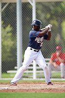 Minnesota Twins Akil Baddoo (25) during an Instructional League game against the Boston Red Sox on September 24, 2016 at CenturyLink Sports Complex in Fort Myers, Florida.  (Mike Janes/Four Seam Images)