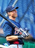 25 September 2010: Atlanta Braves outfielder Rick Ankiel awaits his turn in the batting cage prior to a game against the Washington Nationals at Nationals Park in Washington, DC. The Braves shut out the Nationals 5-0 to even their 3-game series at one win apiece. The Braves' victory was the 2500th career win for skipper Bobby Cox. Cox will retire at the end of the 2010 season, crowning a 29-year managerial career. Mandatory Credit: Ed Wolfstein Photo