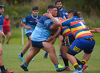 Action from the rugby match between Tawa Premier Reserves and Levin COB at Lyndhurst Park in Wellington, New Zealand on Saturday, 20 March 2020. Photo: Dave Lintott / lintottphoto.co.nz