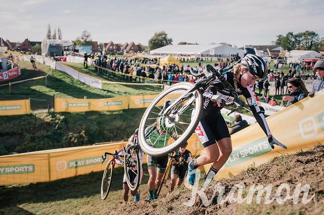 Annemarie Worst (NED/Steylaert-777) leading the race<br /> <br /> Superprestige Ruddervoorde 2018 (BEL)