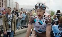 Jean-Christophe Péraud (FRA/Ag2r-La Mondiale) after the finish<br /> <br /> 2014 Tour de France<br /> stage 4: Le Touquet-Paris-Plage/Lille Métropole (163km)