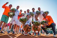Zandvoort, Netherlands, 05 June, 2016, Tennis, Playoffs Competition, Team Leimonias Champion and celebrate<br /> Photo: Henk Koster/tennisimages.com