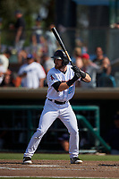 Inland Empire 66ers designated hitter Jared Walsh (21) at bat during a California League game against the Lancaster JetHawks at San Manuel Stadium on May 20, 2018 in San Bernardino, California. Inland Empire defeated Lancaster 12-2. (Zachary Lucy/Four Seam Images)