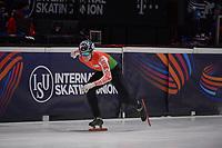 SPEEDSKATING: DORDRECHT: 06-03-2021, ISU World Short Track Speedskating Championships, RF 500m Men, Mikita Mihdaliou (BLR), ©photo Martin de Jong