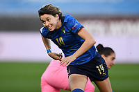Valentina Giacinti of Italy celebrates after scoring a goal during the Women s EURO 2022 qualifying football match between Italy and Israel at stadio Carlo Castellani in Empoli (Italy), February, 24th, 2021. Photo Image Sport / Insidefoto