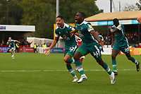 Isaac Olaofe (16) of Sutton United scores the first goal for his team and celebrates during Crawley Town vs Sutton United, Sky Bet EFL League 2 Football at The People's Pension Stadium on 16th October 2021