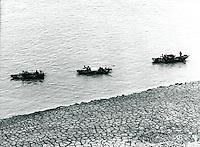 Boote auf dem Jangtse, China 1976