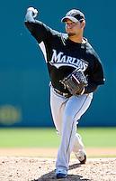 18 March 2007: Florida Marlins pitcher Anibal Sanchez in action against the Washington Nationals at Space Coast Stadium in Viera, Florida...Mandatory Photo Credit: Ed Wolfstein Photo