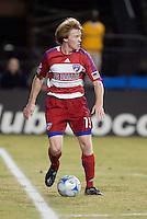 Dax McCarty controls the ball. FC Dallas defeated the San Jose Earthquakes 2-1 at Buck Shaw Stadium in Santa Clara, California on October 7, 2009.