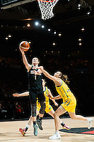 Melbourne, 15 August 2015 - Jess BYGATE of New Zealand in action during game one of the 2015 FIBA Oceania Championships in women's basketball between the Australian Opals and the New Zealand Tall Ferns at Rod Laver Arena in Melbourne, Australia. Aus def NZ 61-41. (Photo Sydney Low / sydlow.com)