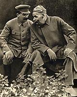 Joseph Stalin and Maxim Gorky