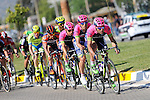 Lampre-Merida team on the front of the peloton during Stage 6 of the 2015 Presidential Tour of Turkey running 184km from Denizli to Selcuk. 30th April 2015.<br /> Photo: Tour of Turkey/Mario Stiehl/www.newsfile.ie