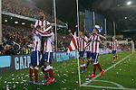Atletico de Madrid's playres celebrate goal during Champions League 2014/2015 match.March 16,2015. (ALTERPHOTOS/Acero)