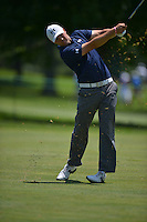 June 29, 2013  (Bethesda, Maryland) Jordan Spieth takes his second shot on Hole 4 during Round 3 of the AT&T National at the Congressional Country Club in Bethesda, MD.   (Photo by Don Baxter/Media Images International)