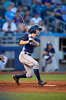 Corpus Christi Hooks catcher Garrett Stubbs (1) follows through on a swing during a game against the Tulsa Drillers on June 3, 2017 at ONEOK Field in Tulsa, Oklahoma.  Corpus Christi defeated Tulsa 5-3.  (Mike Janes/Four Seam Images)