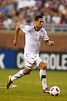 7 June 2011: USA Men's National Team forward Clint Dempsey (8) dribbles the ball during the CONCACAF soccer match between USA MNT and Canada MNT at Ford Field Detroit, Michigan. USA won 2-0.