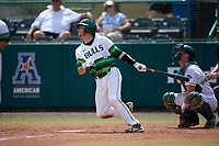 South Florida Bulls catcher Tyler Dietrich (38) at bat in front of catcher Adam Gauthier during a game against the Dartmouth Big Green on March 27, 2016 at USF Baseball Stadium in Tampa, Florida.  South Florida defeated Dartmouth 4-0.  (Mike Janes/Four Seam Images)