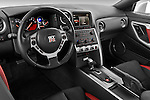 High angle dashboard view of a 2009 Nissan GTR Coupe
