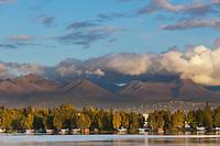 Bush planes along Lake Hood, Anchorage, Alaska.