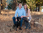 young couple and their dog portrai in Lake Arrowhead, CA