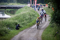 Boy Van Poppel (NED/intermarche-Wanty-Gobert) leading the break away group<br /> <br /> 17th Dwars Door Het Hageland 2021<br /> One Day Race: Aarschot – Diest 18Okm (UCI 1.Pro)<br /> Bingoal Cycling Cup 2021<br /> <br /> ©kramon