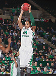 North Texas Mean Green forward Kedrick Hogans (24) in action during the game between the Louisiana Monroe Warhawks and the University of North Texas Mean Green at the North Texas Coliseum,the Super Pit, in Denton, Texas. UNT defeats ULM 86 to 51...